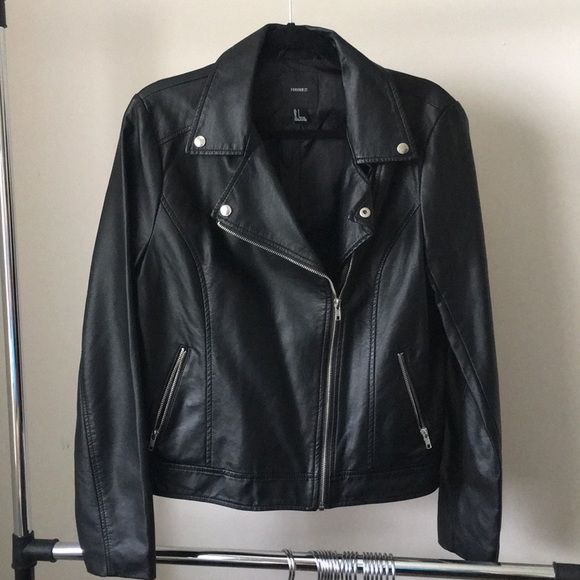 Forever 21 Jackets & Blazers - Black Faux Leather Jacket by Forever 21